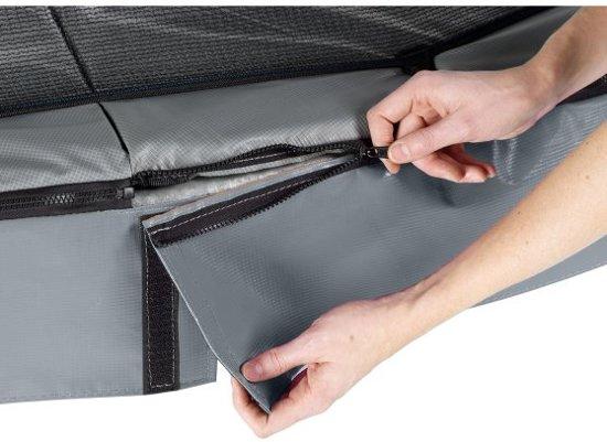 EXIT Elegant trampoline 244x427cm met veiligheidsnet Deluxe - grijs