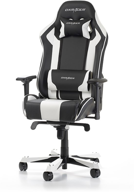 DXRacer King K06 - Gamestoel - Zwart / Wit
