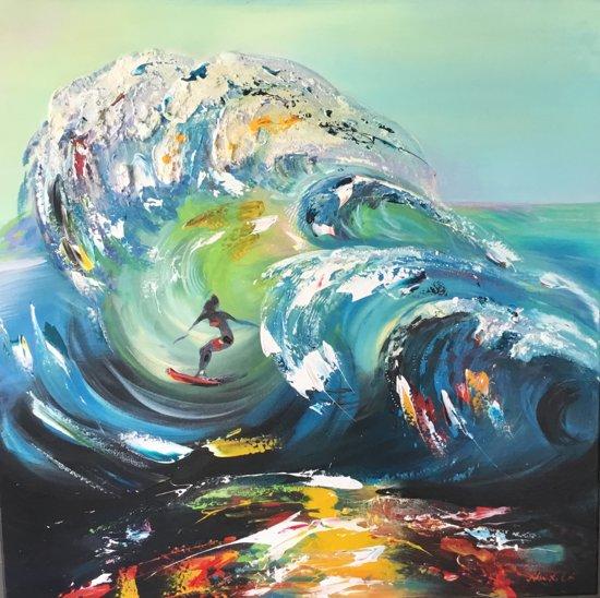 Surfing - Handgeschilderd