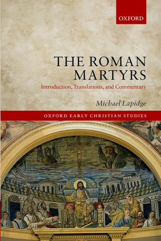 Bol the roman martyrs ebook professor michael lapidge lees de eerste paginas fandeluxe