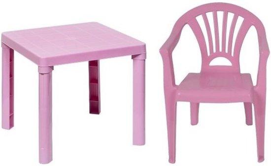Eetstoel Met Tafel.Bol Com Roze Kindermeubels Tafel Met 1 Stoel