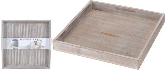 Houten plateau grijs 30 x 30 cm