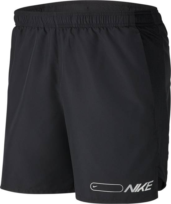 Nike M Nk Air Chllgr Short 7In Bf Heren Sportbroek - Black/Reflective Silv - Maat XXL