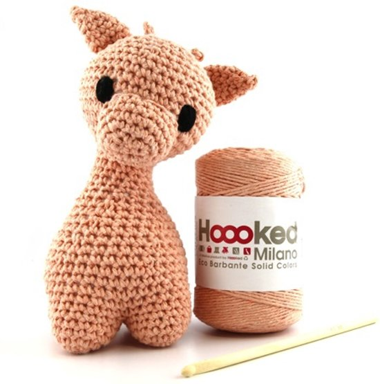 Bolcom Giraf Haken Eco Barbante Milano Apricot Hoooked Speelgoed