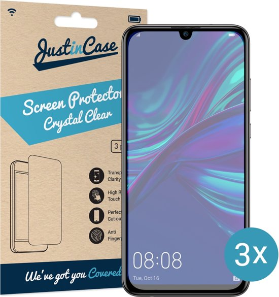 4a21238258069a Just in Case Screen Protector Huawei P Smart Plus 2019 - Crystal Clear - 3  stuks
