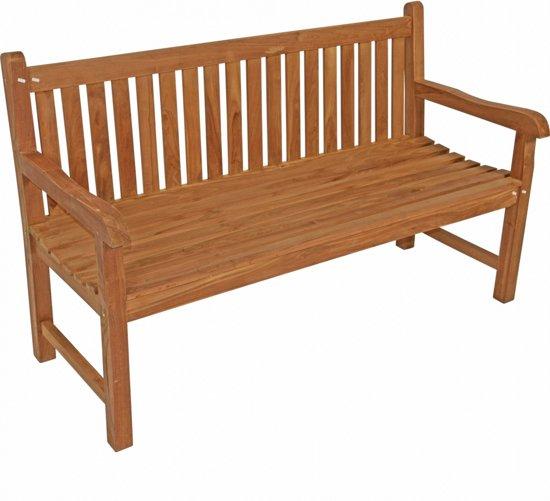 Uitzonderlijk bol.com | Lesliliving - Tuinbank rechte rug hout 150 cm - Teak HT55