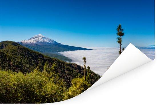 De bergketen van de Mount Teide in het Teide Nationaal Park in Spanje Poster 30x20 cm - klein - Foto print op Poster (wanddecoratie woonkamer / slaapkamer)