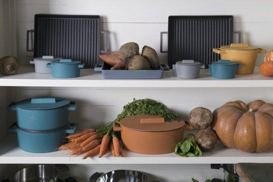Terra.Cotto ovale kook/braadpan met deksel - Sambonet