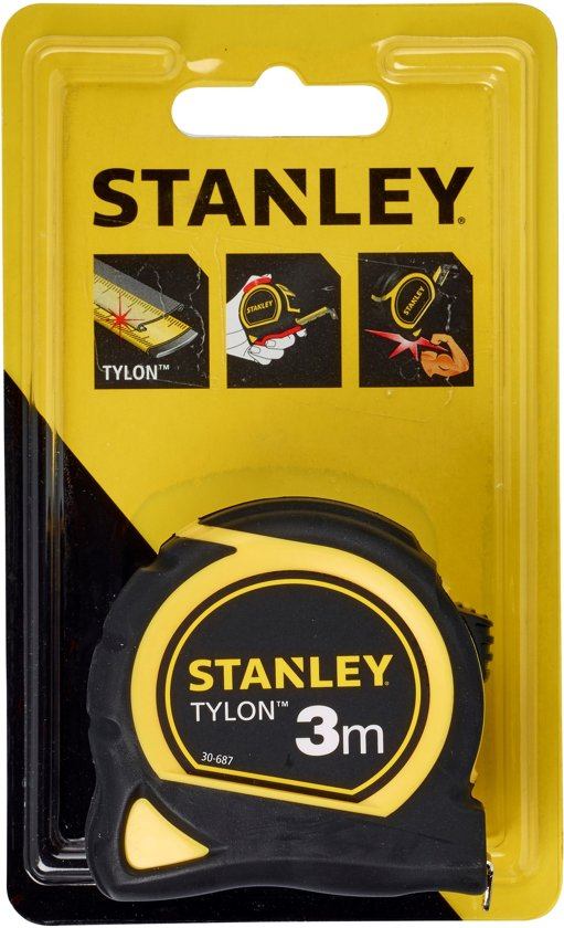 Rolbandmaat Stanley Tylon 3m - 12,7mm 0-30-687