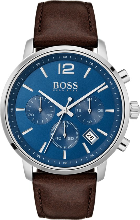 Hugo Boss Attitude HB1513606 Horloge - Leer - Bruin