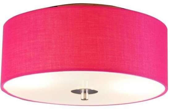 ... Drum 30 R - Plafondlamp met lampenkap - 2 Lichts - Ø30 cm - roze