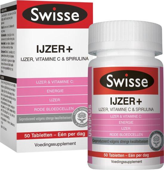 Swisse multivitaminen IJZER+ tabletten 50stuks - vitaminen