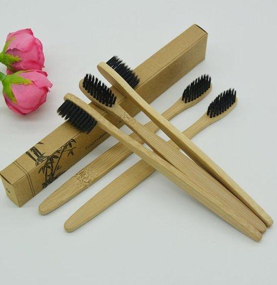 KELERINO. Bamboe Tandenborstel Zacht/medium - 4 stuks