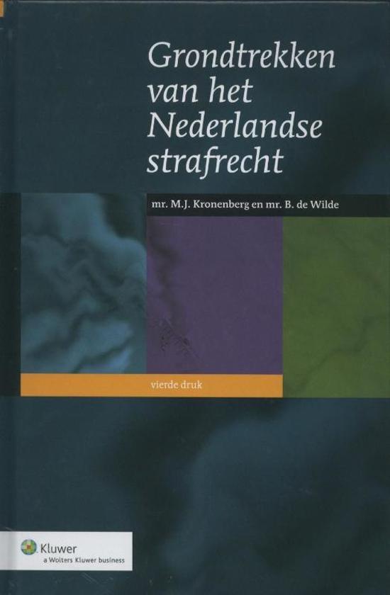 Grondtrekken van het Nederlandse strafrecht - M.J. Kronenberg