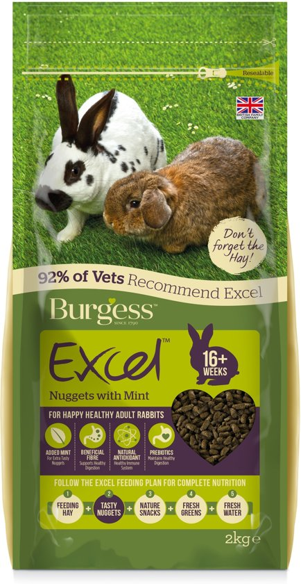 Burgess excel rabbit adult konijnenvoer