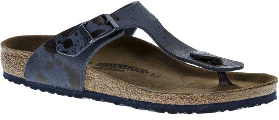 Birkenstock Gizeh Slippers - Maat 34 - Unisex - blauw/zwart
