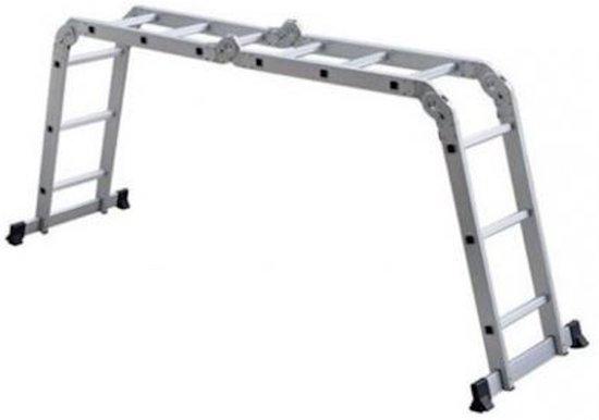Multifunctionele Vouwladder - 4x3 sporten - Werkhoogte 3,45 meter