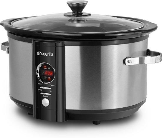 Brabantia BBEK1083 6.5L Digitaal Programmeerbare Slow Cooker