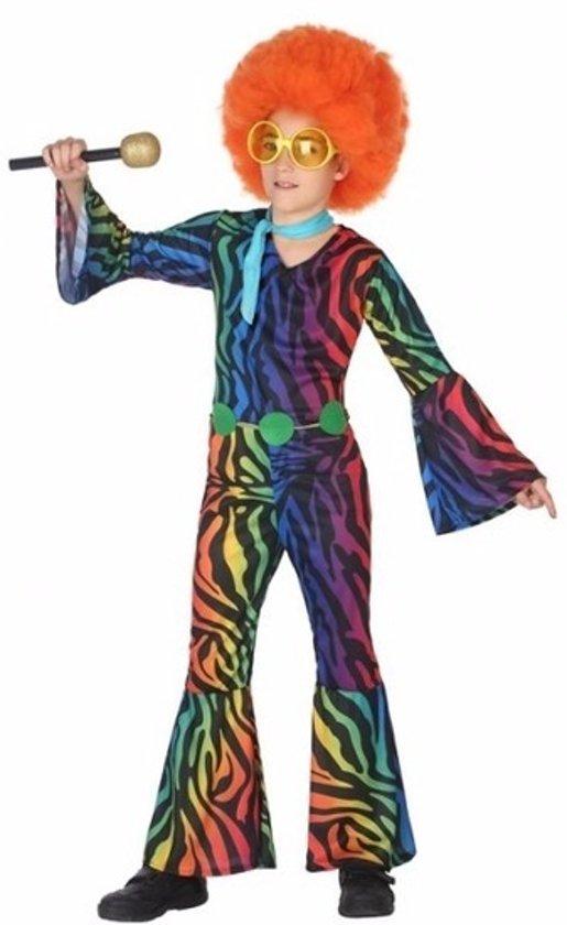Gekleurde disco jumpsuit voor meisjes 128 (7-9 jaar)