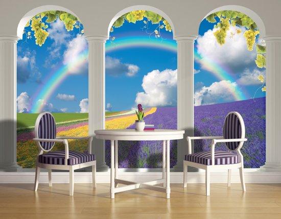 Behang Kinderkamer Regenboog : Bol.com fotobehang vlies natuur regenboog blauw 368x254cm bxh