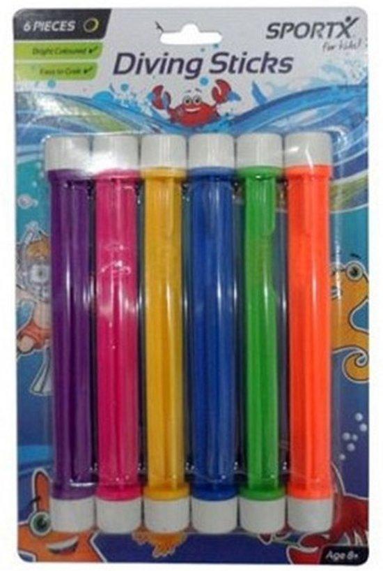 18x Gekleurde duikstaafjes - Duikspeelgoed