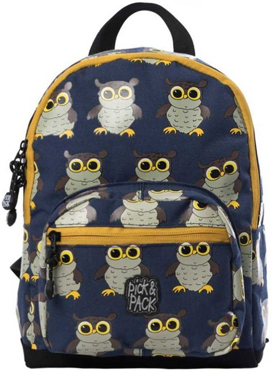 Pick & Pack Owl Rugzak - Dark Blue Multi