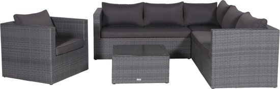 Garden Impressions - Montana - loungeset - 5-delig - Earl grey