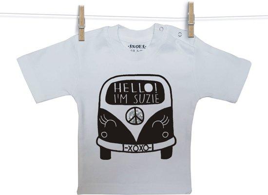 Baby Shirt wit korte mouw Snoes Bus Suzie gepers 50/56
