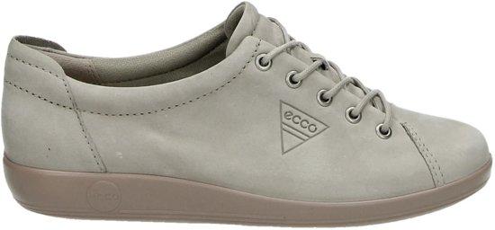 ECCO Soft 2.0 dames sneaker Taupe Maat 36