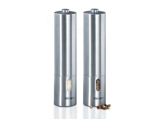Tristar PM-4005 Elektrische Peper- en Zoutmolen – Set van 2 – RVS
