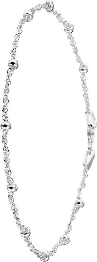 Lucardi - Zilveren enkelband met bal