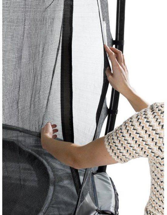 EXIT Elegant Premium trampoline 214x366cm met veiligheidsnet Deluxe - zwart