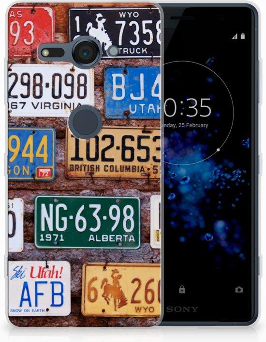 Sony Xperia XZ2 Compact Uniek TPU Hoesje Kentekenplaten