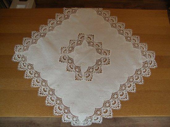 Tafelkleed - Grofkant - Wit - Vierkant 110x110 cm - 8139