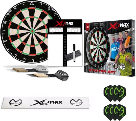 XQ-MAX Michael van Gerwen complete starter set - dartbord - 2 sets dartpijlen - scorebord - afstand sticker