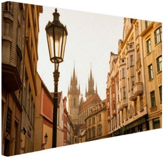 Oude centrum Praag Canvas 30x20 cm - Foto print op Canvas schilderij (Wanddecoratie)