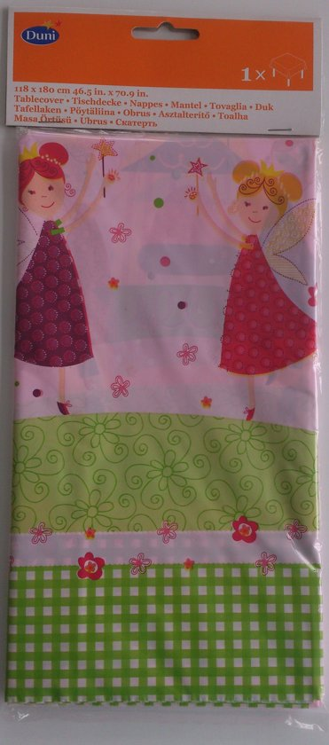 """Tafelkleed Plastic - """"Pink Fairy"""" - 118 cm x 180 cm"""