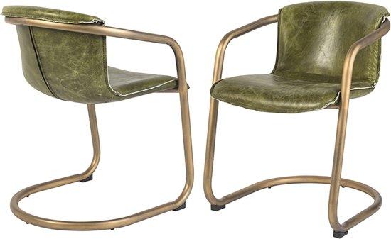 Bol.com qazqa set van 2 vintage eetkamer stoelen in verweerd
