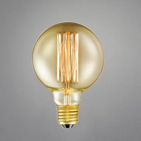 Edison Gloeilamp G80 40w E27 Amber dimbaar ( set 3 )