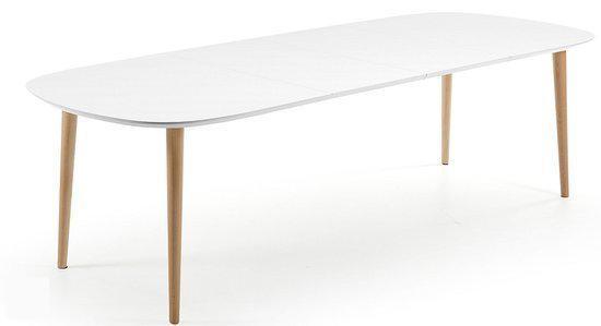 Laforma oqui eettafel ovaal wit with ovale witte eettafel for Ikea fusion tafel