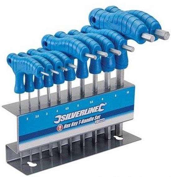 10-Delige T-Greep Zeskantsleutel Set (2 - 10 mm)