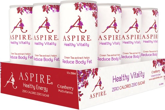 Aspire Drinks - Cranberry (12x 250ml)