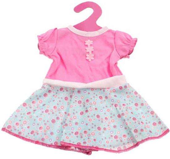 B-Merk Baby Born jurkje, blauw/roze stipjes