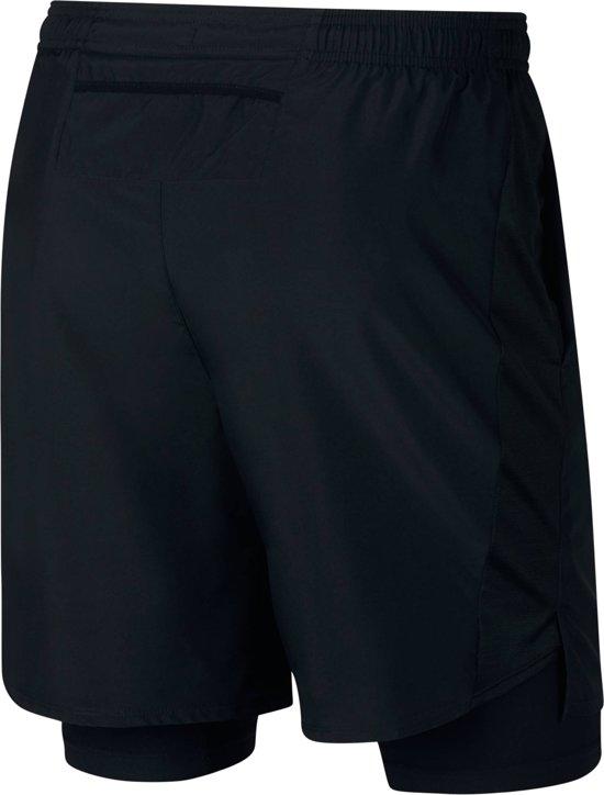"Nike Challenger 7"" Heren Sportbroek - Black/Black/Reflective Silv - Maat XL"