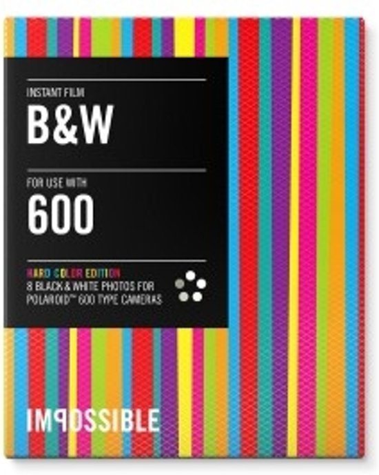 Bolcom Impossible Black White Film 20 For Polaroid 600 Hard
