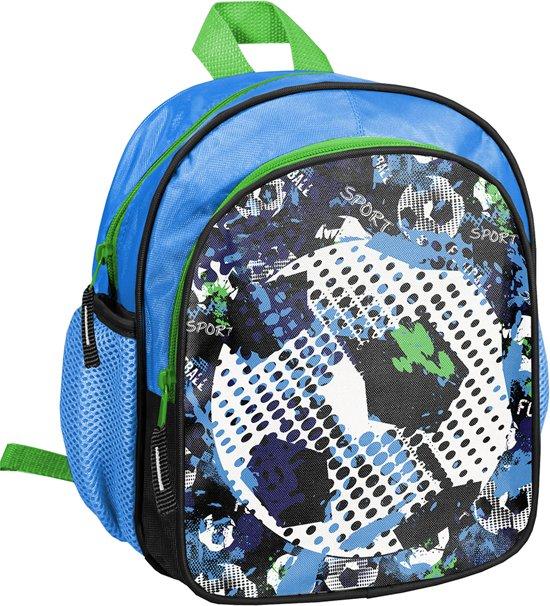 Rugzak - Voetbal - voor Jongens - 26 cm - Blauw met Groen