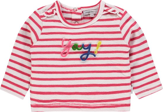f1b96b013b87ef Noppies Meisjes T-shirt met Boxy fit en strepen Rosamond - Bright Red - Maat