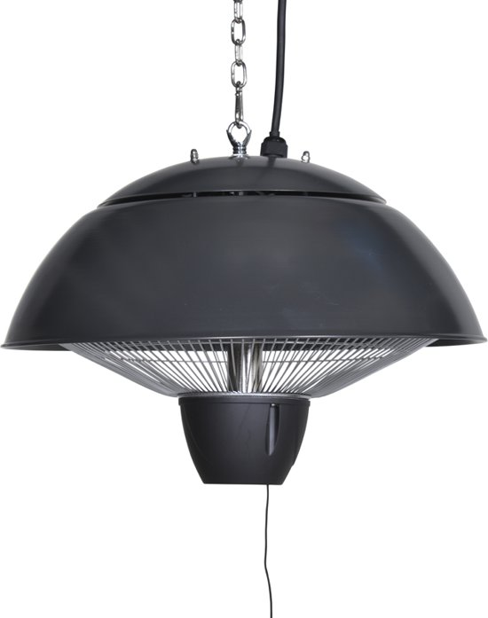 Garden Impressions - Bordeaux - hangende heater - 43CM - royal grey - 1500W