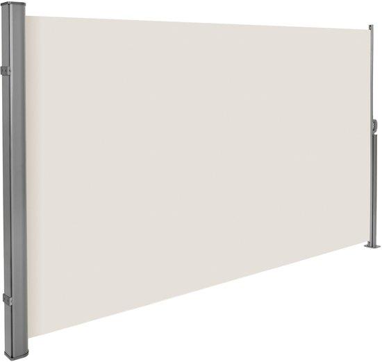 Uitschuifbaar aluminium windscherm tuinscherm 180 x 300 cm beige 401529