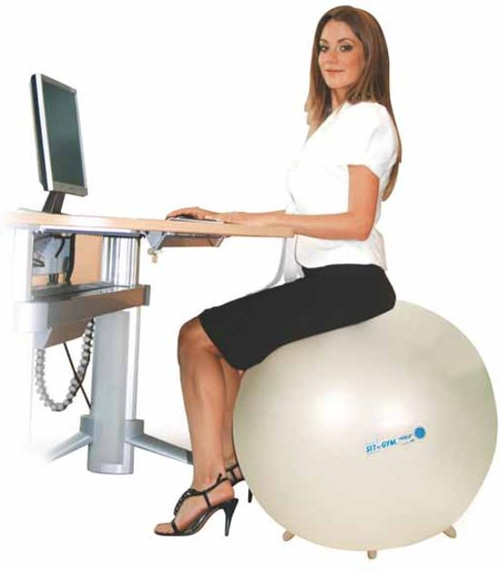 Gymnic Sit'n'Gym 75 BRQ - Zitbal - Parelmoer - Ø 75 cm
